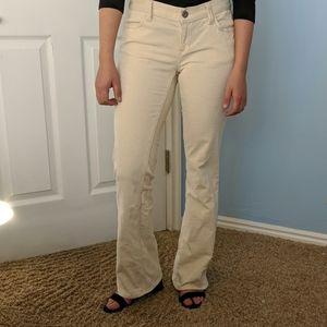 White corduroy Gap pants